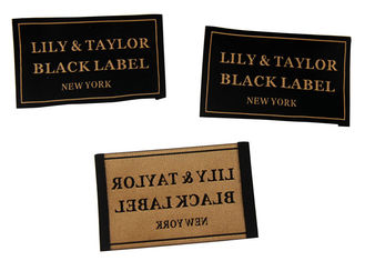 China 50D Polyester Yarns Clothing Woven Labels custom color size For Clothes / Gifts supplier