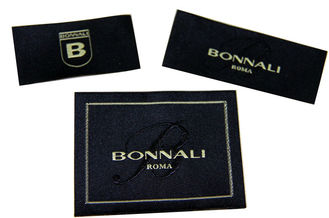 China luxury high class Satin / Cotton Clothing Woven Labels With Customized Logo / Color / Shape supplier