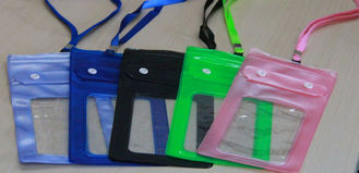 China Colorful  Waterproof PVC Fabric Carrier Bags For Cellphone Protect in Swimming supplier