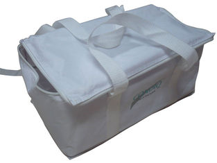 China Promotional 210D White Nylon Thermal Protective Bag, Food Carrier Bags 42 * 28 * 16 cm supplier