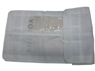 China Promotional Aolisha Unwoven Fabric White Zippered Garment Suit Bag For Dress Packaging supplier