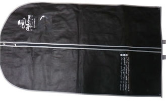 China Um Black 75g Unwoven Fabric With PVC Cover Suit Garment Bags With White Border / Handle supplier