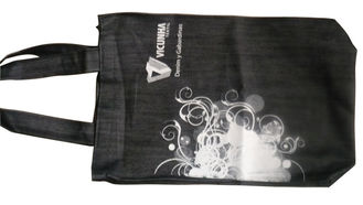China Recyle, Durable Black Fabric Shopping Bags, Canvas Shopper Bag For Gift Packaging supplier