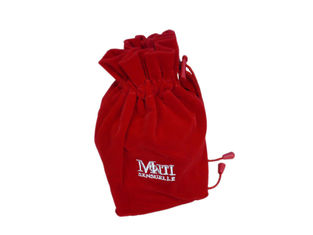 China Recycled MoTi Red Velet Fabric Drawstring Bags For Perfume Packing logo emboidery supplier