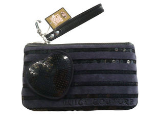 China Reusable Wallet Crossbody Bag With Sequin Lines , Plastic Zipper supplier