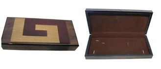 China Jewelry Box, Wood Keepsake Gift Boxes Inside Velvet With Glass Window supplier