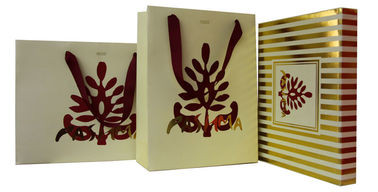 China OEM Pashma 210g Art Paper Shopping Bag With Matt Lamination, Logo Stamp factory