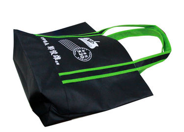 China Black Promotional Fabric Carrier Bags For Shopping Eco Friendly factory