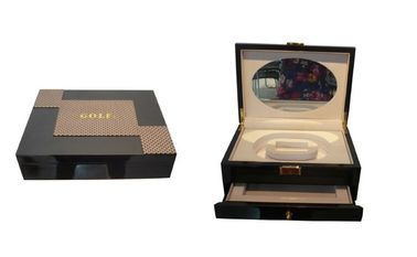 China Matte Lacquer Finished Personalised Wooden Keepsake Boxes For Bangle / Watch / Necklace distributor
