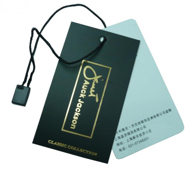 OEM Clothing Hang Tags With Customized Logos For Garment / Bags Label