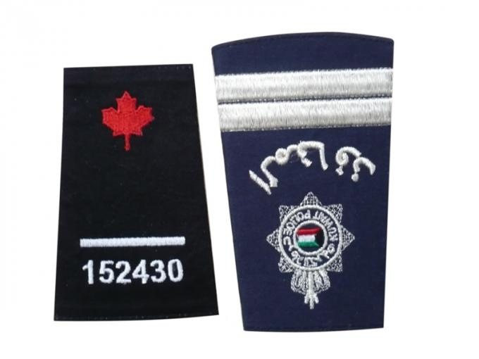 Custom Embroidered Clothing Patch, Personalized Badges With Serging / Heat-Cutting Edge