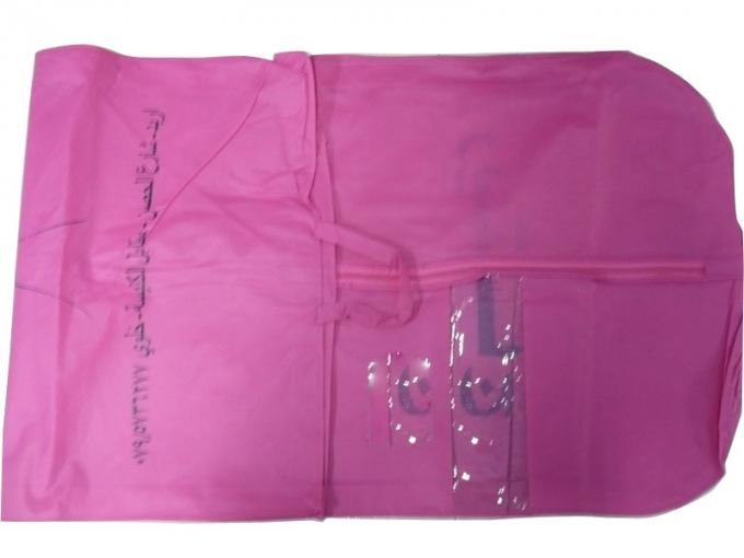 Aj Pink 75g Unwoven Fabric Suit Garment Dress Bag With PVC Window, Card Pocket