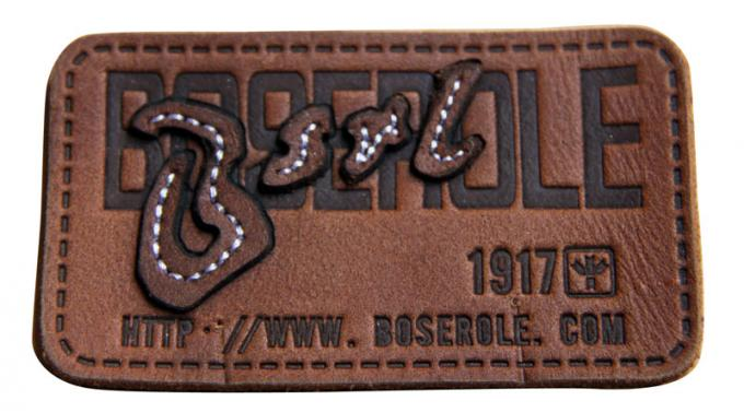 Customized stamped  sewing Logo  Leather Patches Real Leather For Garment