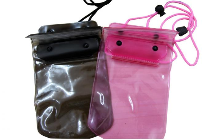 50C Transparent Waterproof cell phone bag adjust rope for swimming